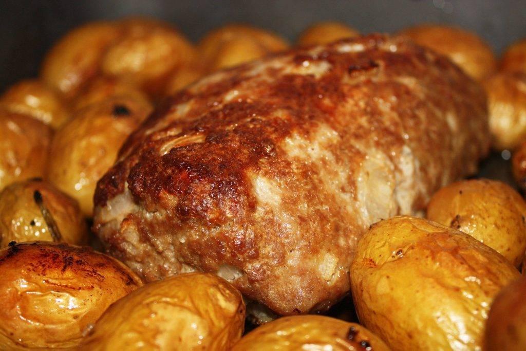 polpettone al forno con patate