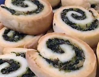 Girelle di mozzarella agli spinaci