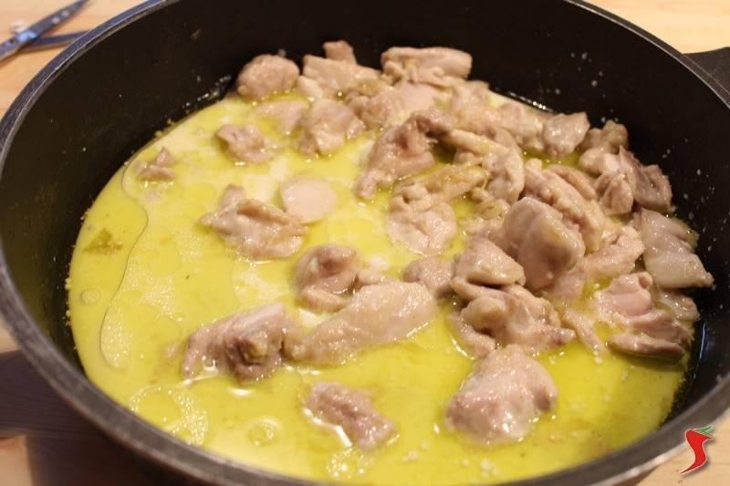 pollo e riso al curry
