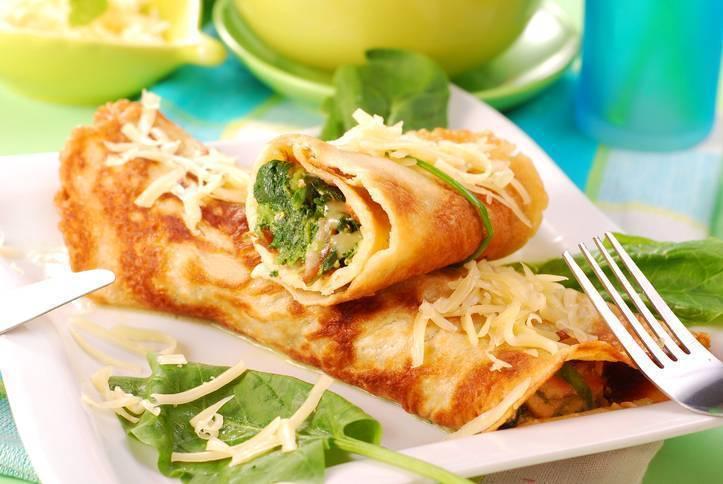 Frittata con spinaci e feta