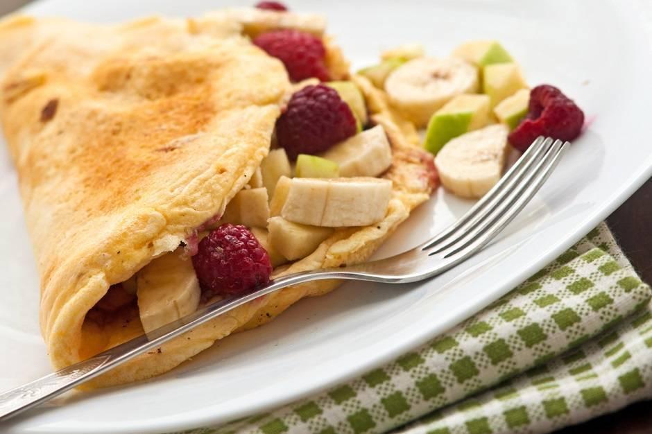 Omelette soffici alla frutta