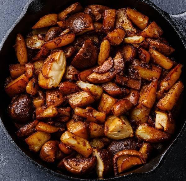 funghi porcini e patate