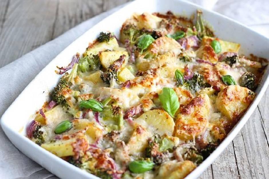 Teglia di patate e broccoli