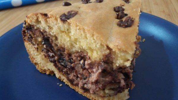 torta alla nutella con la ricotta