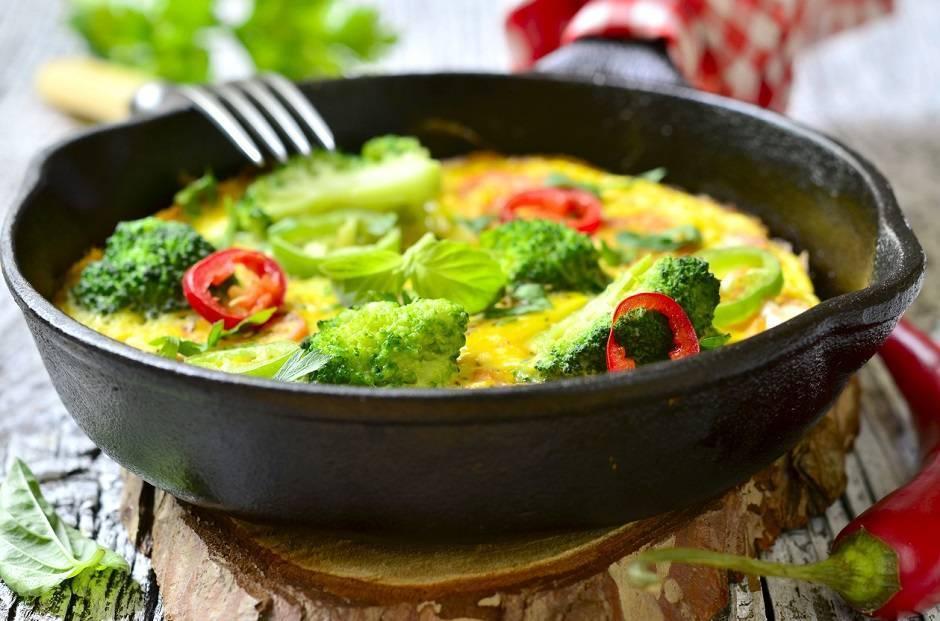 omelette piccante ai broccoli
