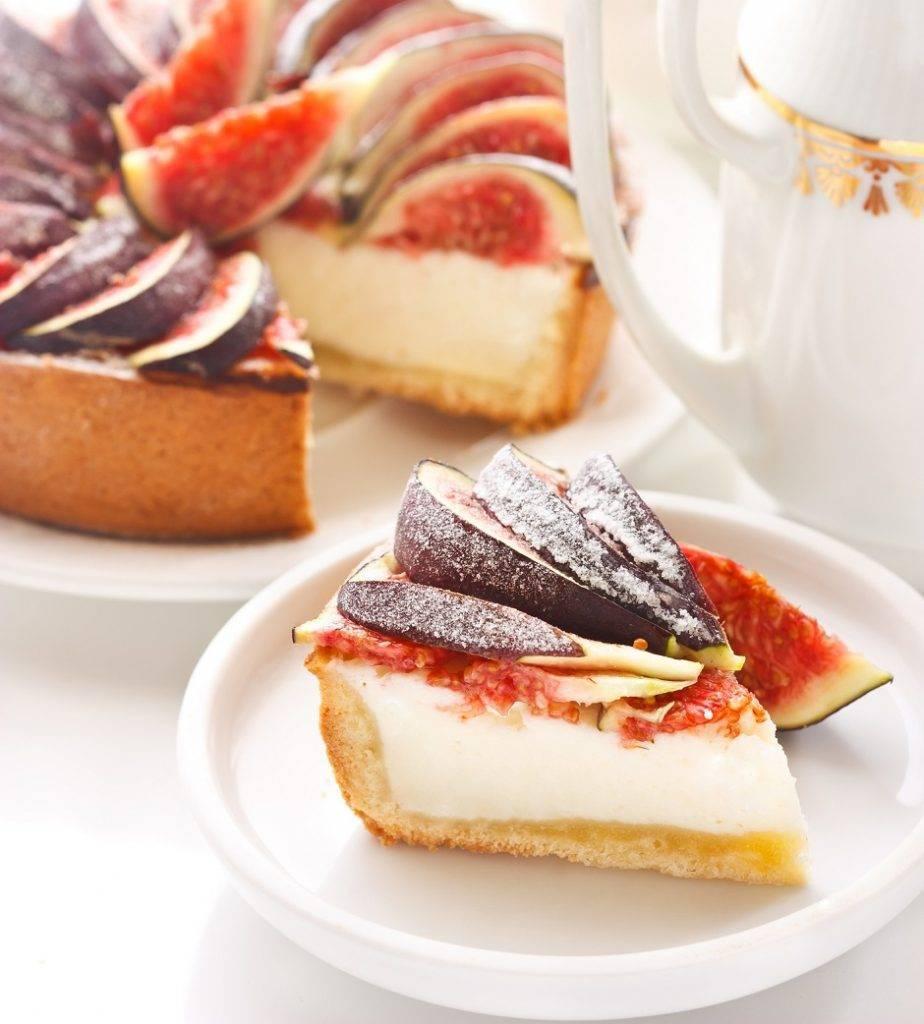 Cheesecake ai fichi con yogurt e miele