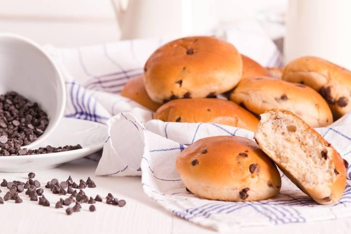 panini dolci con gocciole di cioccolato