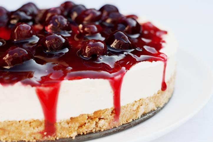 Cheesecake al Cioccolato Bianco con Ciliegie