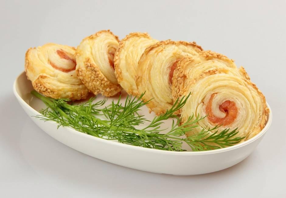 Spirali di salmone in crosta