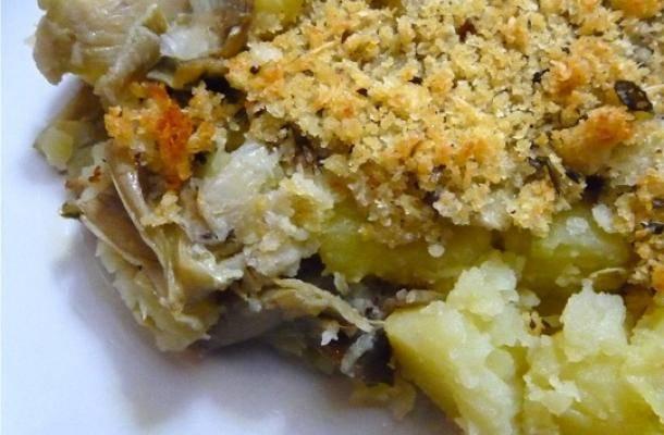 sfprmato di patate e carciofi al forno