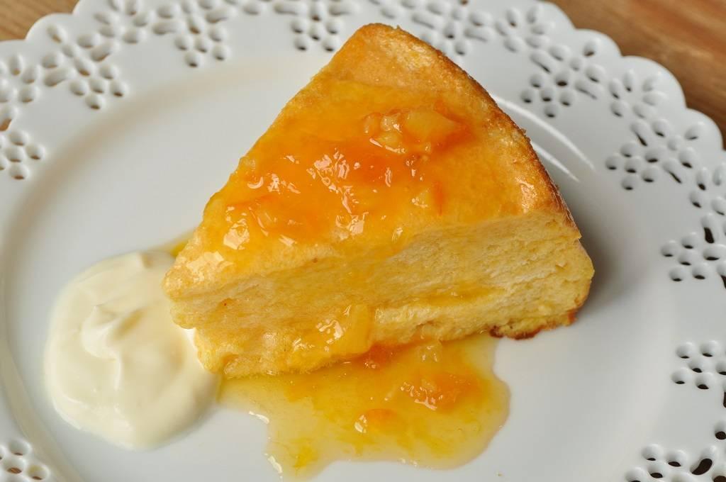 Souffle cake with orange