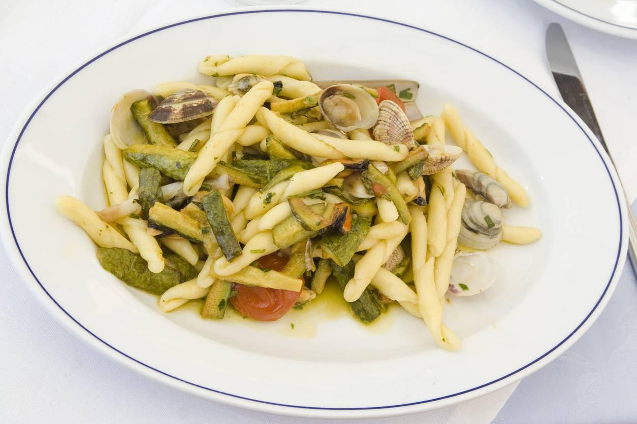 Pasta con Vongole e Zucchine