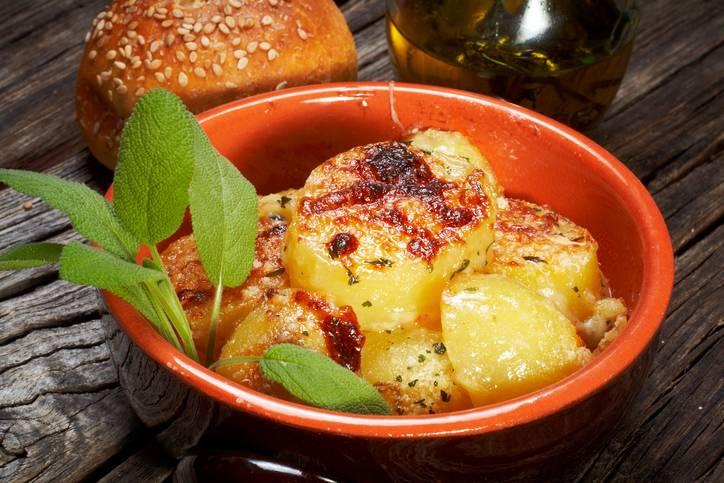 patate gratinate alla salvia