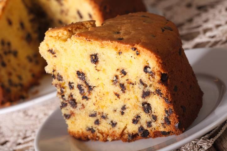 torta margherita con gocciole di cioccolato