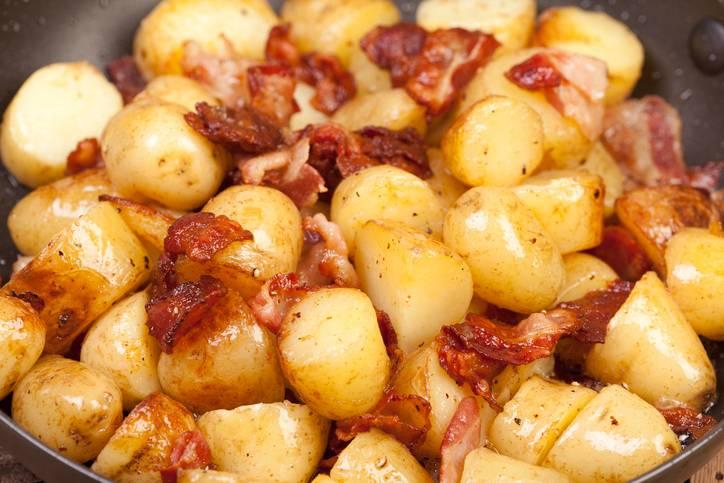 patate e pancetta al tegame