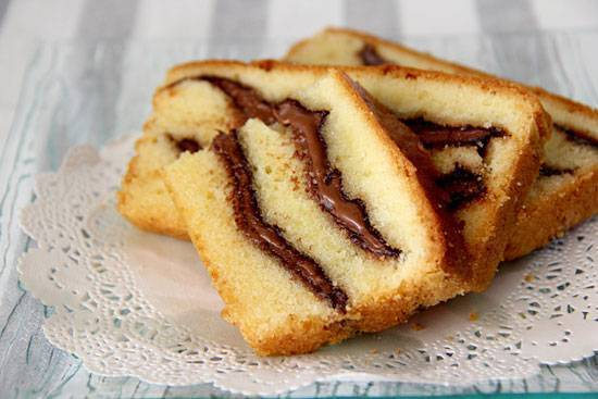 plum cake alla nutella