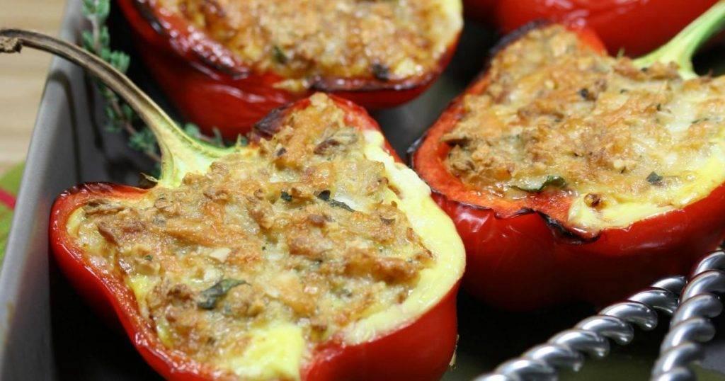 peperoni ripieni patate e tonno