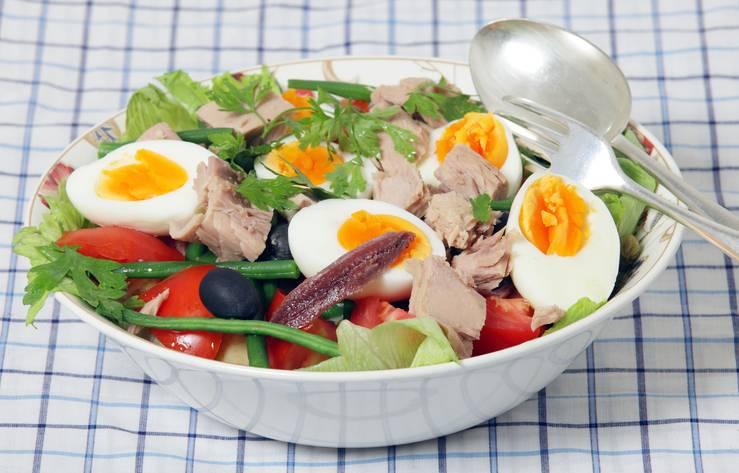 insalata di fagiolini uova sode e tonno