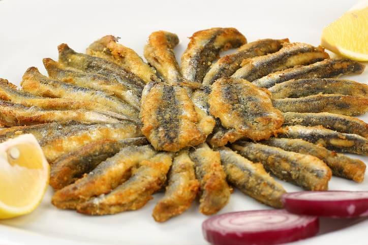Filetti di alici dorate