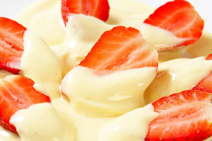 Crema Inglese con Fragole