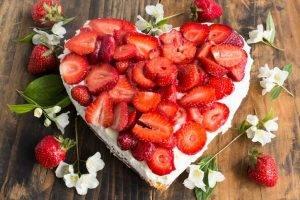 cheesecake alle fragole con fiordilatte