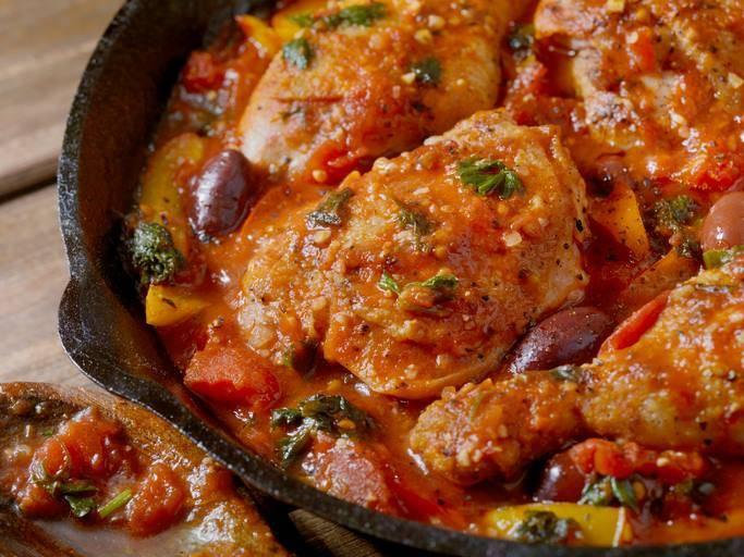 cosce di pollo con peperoni