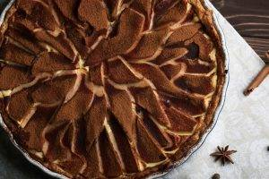 torta fredda pere e cioccolato