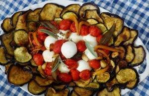 Antipasto di Verdure Miste con Mozzarella di Bufala