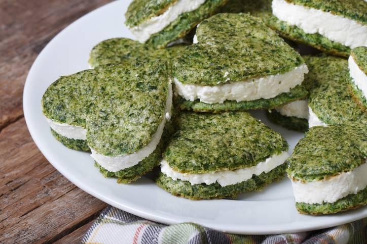 biscotti salati agli spinaci con philadelphia
