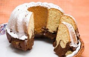 ciambellone vaniglia e cacao