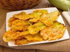 fiori di zucchina fritti dorati