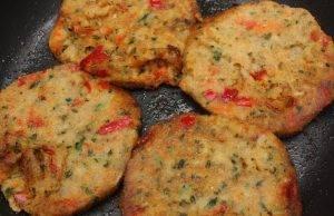 frittelle di zucchine e peperoni