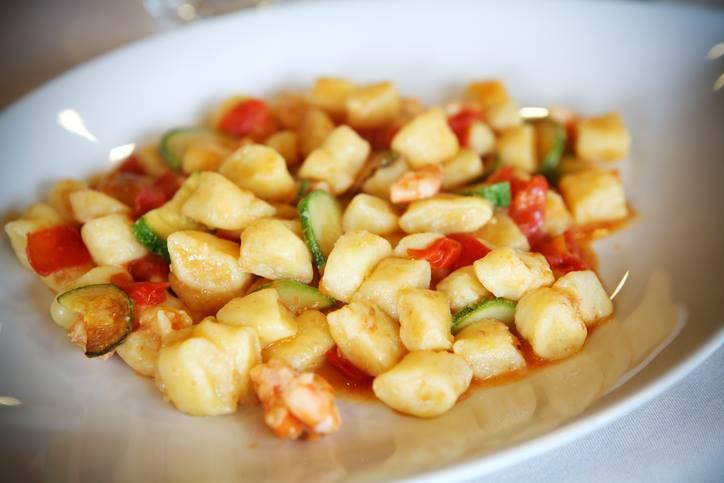 Gnocchetti di Patate con Zucchine e Gamberetti