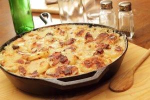 patate cremose alla pancetta croccante