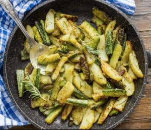 patate e zucchine al rosmarino