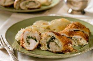 petto di pollo con spinaci al forno
