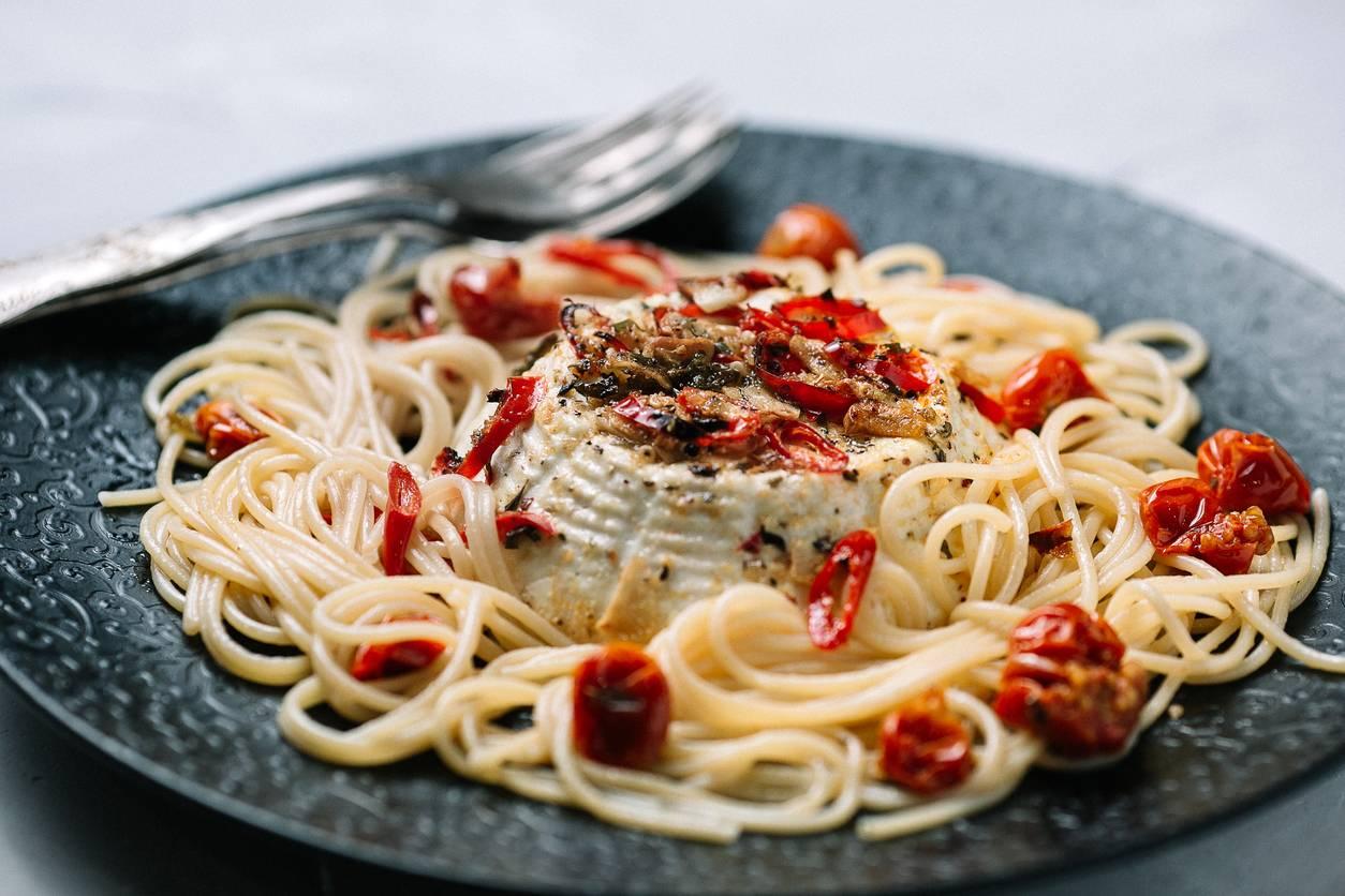 Spaghetti con Pomodorini e Ricotta