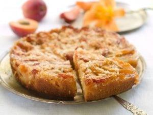 torta 7 vasetti alle pesche frullate, senza burro e olio