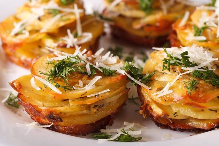 tortini di patate e parmigiano