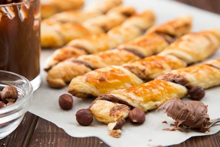 Fruste di Pasta Sfoglia alla Nutella