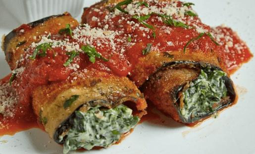 Melanzane Fritte con Ricotta e Spinaci