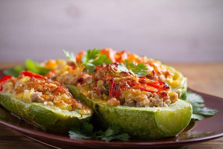 Zucchine Ripiene con Salsiccia