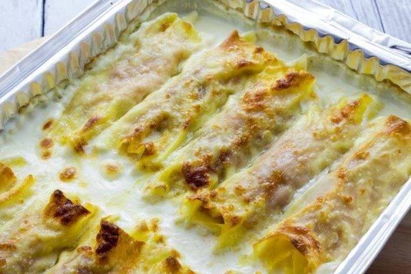 cannelloni prosciutto e formaggio il mio pranzo ideale per la Domenica