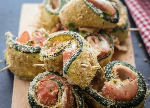 Involtini di Zucchine con Prosciutto al Forno