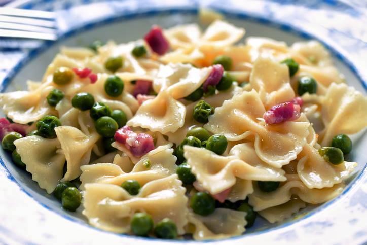 Pasta Pancetta e Piselli
