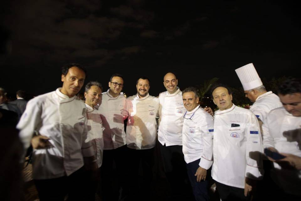 Gourmet Dinner Show, ospite Matteo Salvini - Foto FIC