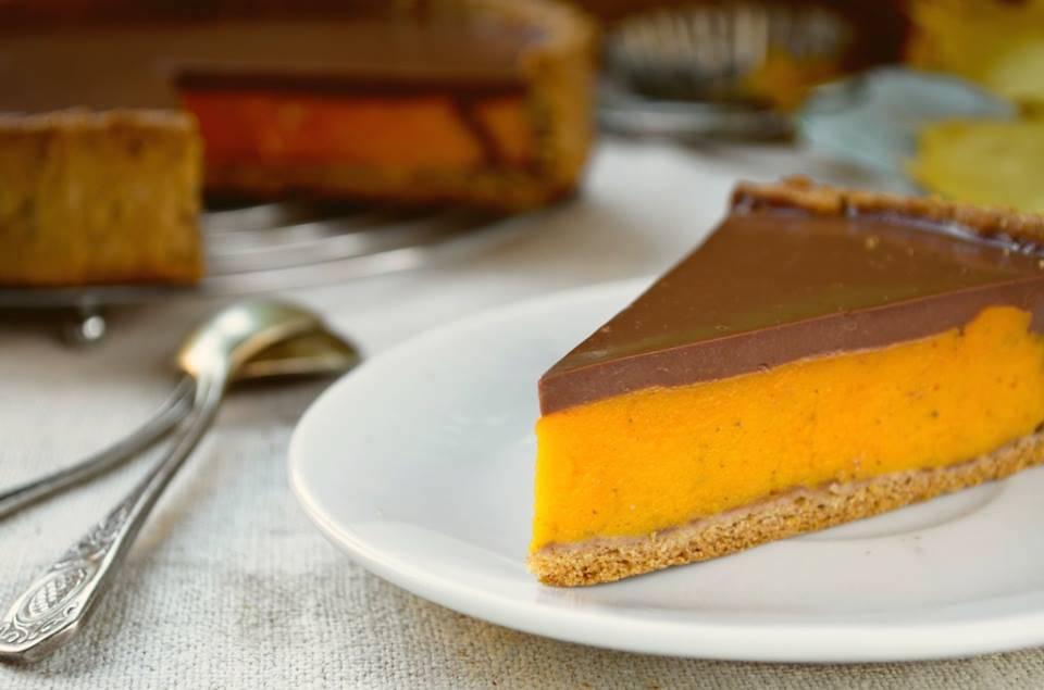Cheesecake di Zucca e Cioccolato