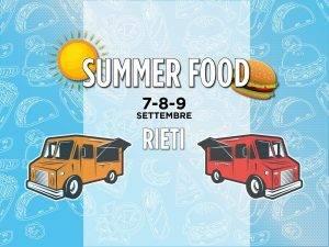 rieti summer food - la locandina