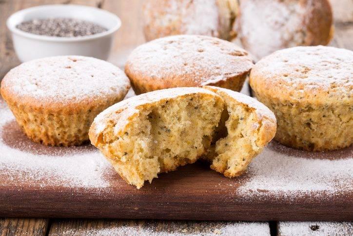 Muffin al Limone con Semi di Chia