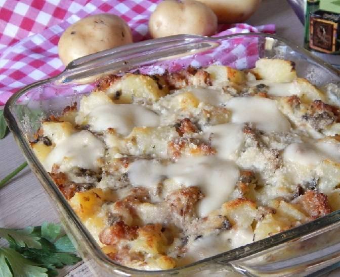 Pasticcio di Patate e Salsicce